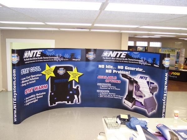PU009 - Custom Pop-Up Trade Show Booth for Service & Trade Organizations