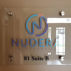 Interior Acrylic Display for Nudera Orthodontics in South Elgin, IL