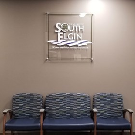 Interior Acrylic Display for Village of South Elgin in South Elgin, IL